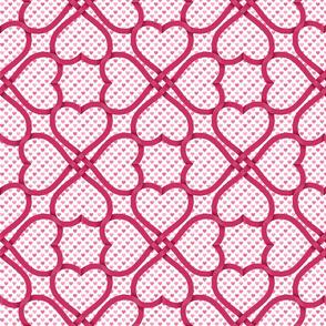 ribbon heart knot on hearts