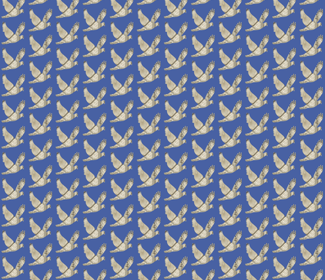 Parisian Dove French country blue fabric by karenharveycox on Spoonflower - custom fabric