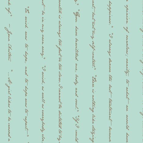 Jane Austen's Quotes (now Small) fabric by amazinart on Spoonflower - custom fabric
