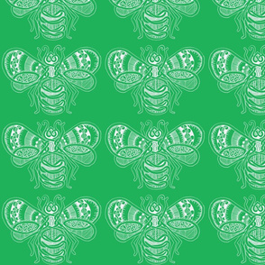 BeeHappy - Lg - dark green reverse