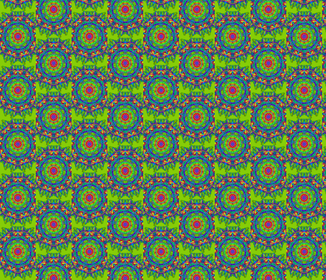 spikey green fabric by jellybeanquilter on Spoonflower - custom fabric