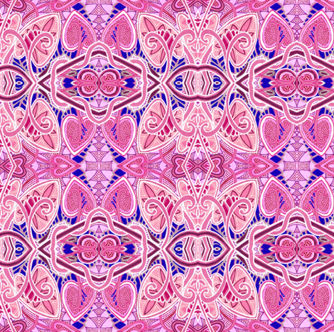 Valentine to the Pinkest Power fabric by edsel2084 on Spoonflower - custom fabric