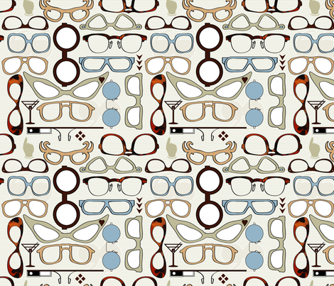 Have you seen my glasses? fabric by motyka on Spoonflower - custom fabric