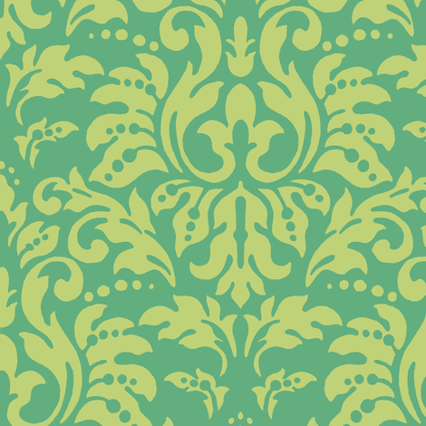 Aqua_Damask fabric by kelly_a on Spoonflower - custom fabric