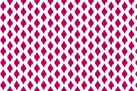 Ink blot Ikat pink fabric by ninaribena on Spoonflower - custom fabric