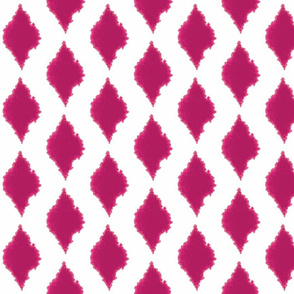 Ink blot Ikat pink