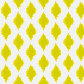 Ink blot Ikat lemongrass