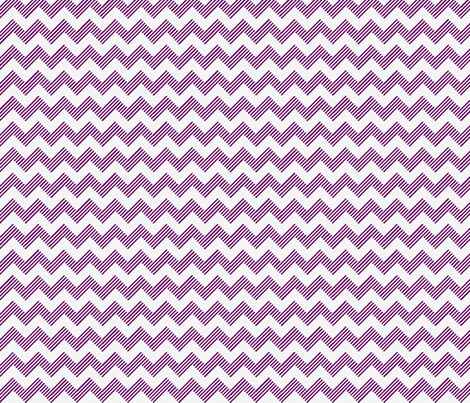 zipzag violet wht fabric by vos_designs on Spoonflower - custom fabric