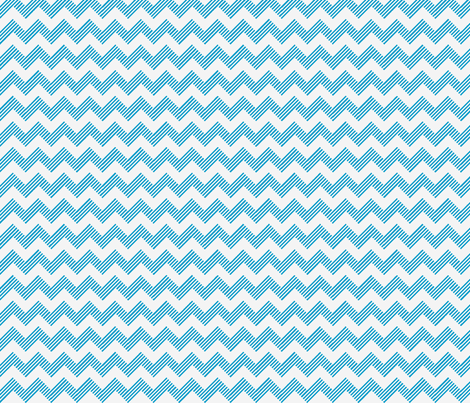 zipzag aqua wht fabric by vos_designs on Spoonflower - custom fabric