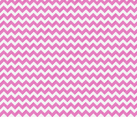 zipzag hot pink wht fabric by vos_designs on Spoonflower - custom fabric