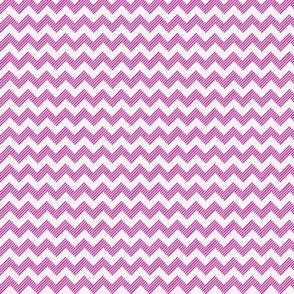 zipzag hot pink wht