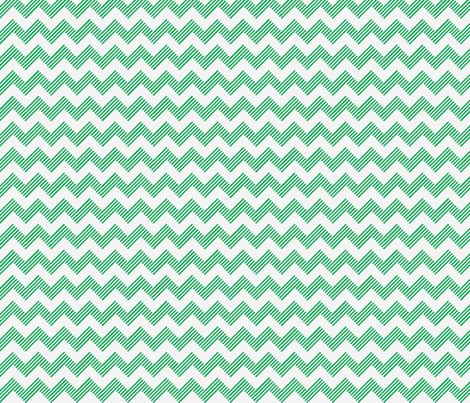 zipzag teal wht fabric by vos_designs on Spoonflower - custom fabric