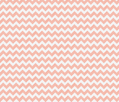 zipzag peach wht fabric by dsa_designs on Spoonflower - custom fabric