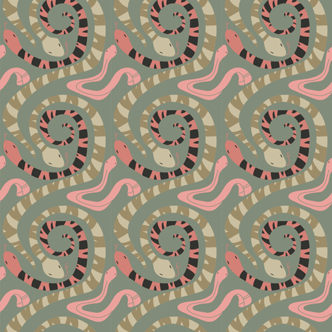 Snakes fabric by dani_tea on Spoonflower - custom fabric