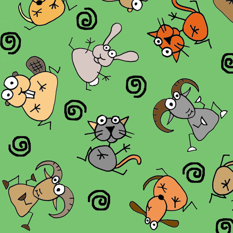 Animals love trees! fabric by joojoostrees on Spoonflower - custom fabric