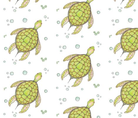 Turtle Garden fabric by artthatmoves on Spoonflower - custom fabric