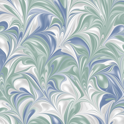 BlueJayBayou-PSwirl fabric by modernmarbling on Spoonflower - custom fabric