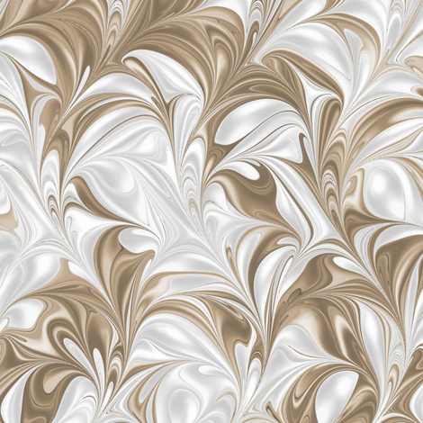 BrownSugar-PSwirl fabric by modernmarbling on Spoonflower - custom fabric