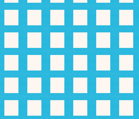 chevron_frame aqua mini cheater quilt fabric by dsa_designs on Spoonflower - custom fabric