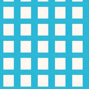 chevron_frame aqua mini cheater quilt