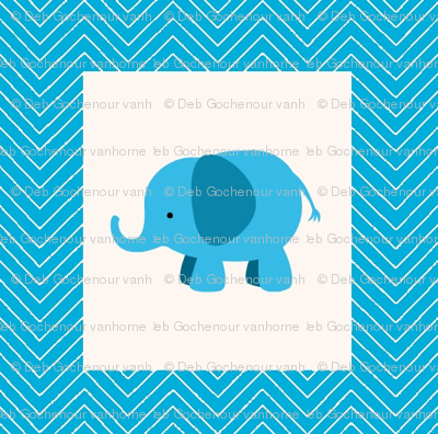 chevron_elephant mini cheater  quilt