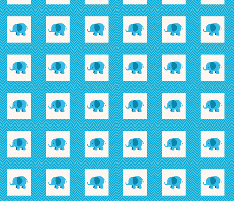 chevron_elephant mini cheater  quilt fabric by dsa_designs on Spoonflower - custom fabric