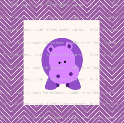 chevron_hippo mini cheater quilt