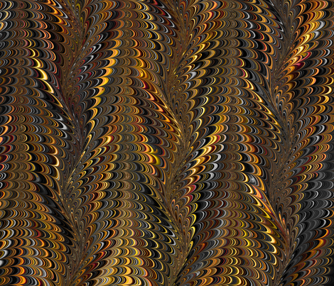OrangeBlack-Icarus fabric by modernmarblingdesign on Spoonflower - custom fabric