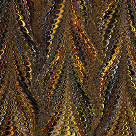 OrangeBlack-Icarus fabric by modernmarblingdesign on Spoonflower - custom fabric