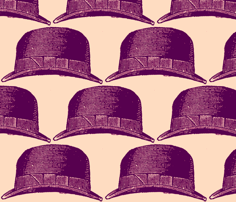 purple fedora fabric by walkwithmagistudio on Spoonflower - custom fabric