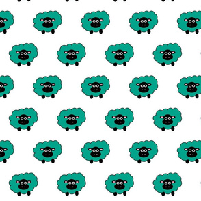 Teal sheep