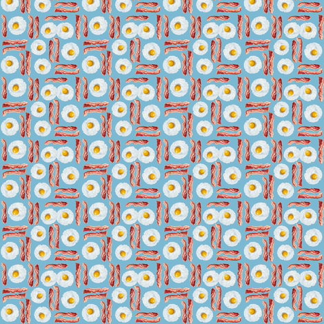 Tiny Bacon 'n Eggs fabric by sufficiency on Spoonflower - custom fabric