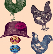 pop art  chickens &amp; mustache eggs