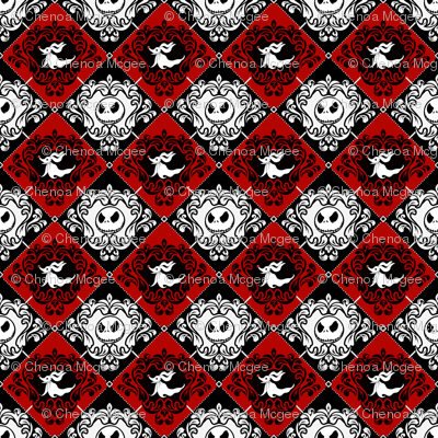 Jack Damask Red Nightmare Before Christmas
