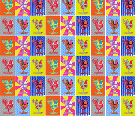Six Chickens fabric by meg56003 on Spoonflower - custom fabric