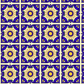 Floral tiles Spirograph