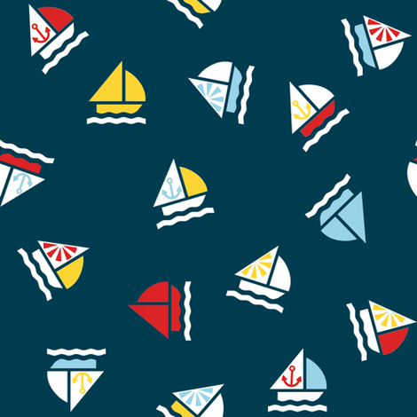 Regatta Rally fabric by kamilindoto on Spoonflower - custom fabric