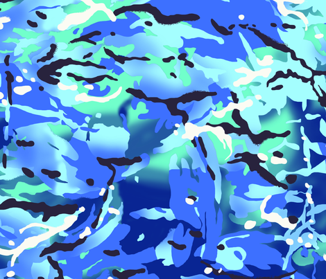 MTP Blue Camo fabric by ricraynor on Spoonflower - custom fabric