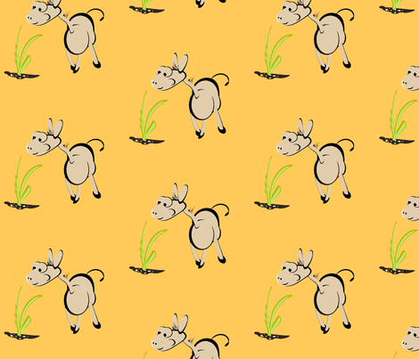 Dunkey fabric by retroretro on Spoonflower - custom fabric