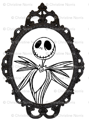Jack Skellington Damask frame
