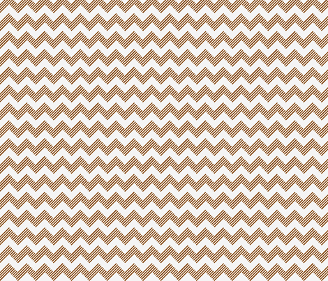 zipzagbrn wht fabric by vos_designs on Spoonflower - custom fabric