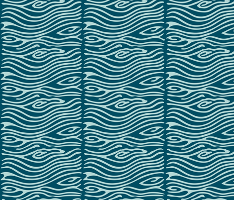 Water pattern - vector - seafoam175 dkblue195 fabric by mina on Spoonflower - custom fabric