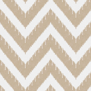 Khaki Beaded Ikat Chevron