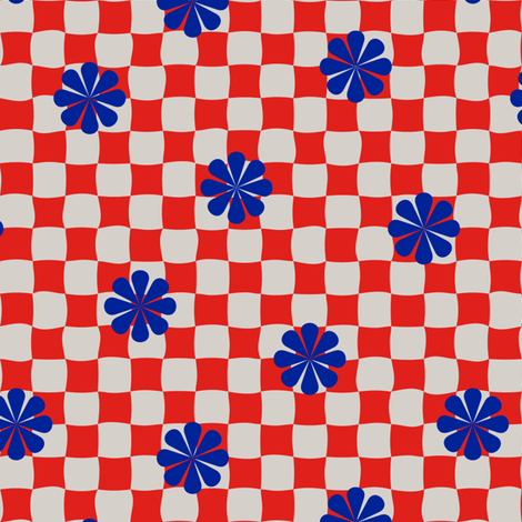 Checkers fabric by yellowstudio on Spoonflower - custom fabric
