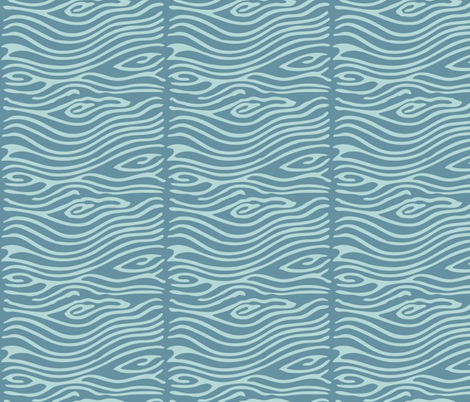 Water pattern - vector - seafoam175 midblue195 fabric by mina on Spoonflower - custom fabric