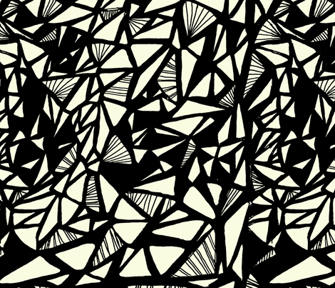 Monarch_Sketch_BLK fabric by silverkaos on Spoonflower - custom fabric