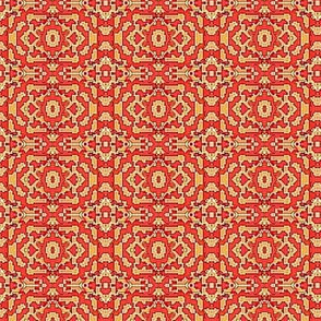 red flowered squares -1