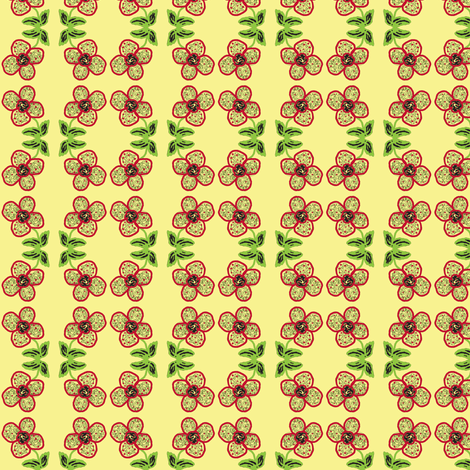 Little Red Flower fabric by sewbiznes on Spoonflower - custom fabric