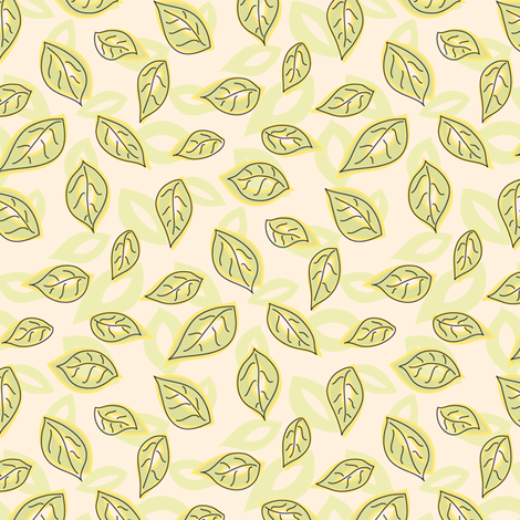 Jungle Leaves fabric by katrinazerilli on Spoonflower - custom fabric