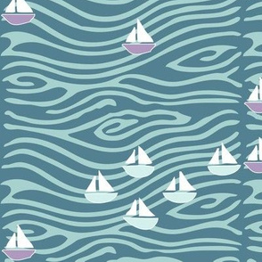 Sailing at the lake - lilac275-seafoam175-midblue196